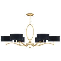 Fine Art Lamps 771740-SF34 Allegretto 6 Light 51 inch Gold Leaf Chandelier Ceiling Light