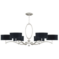 Fine Art Lamps 771740-SF42 Allegretto 6 Light 51 inch Silver Leaf Chandelier Ceiling Light