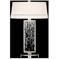 Cascades 33 inch 150 watt Silver Table Lamp Portable Light