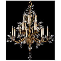 Fine Art Lamps 773740ST Crystal Laurel Gold 16 Light 45 inch Gold Leaf Chandelier Ceiling Light