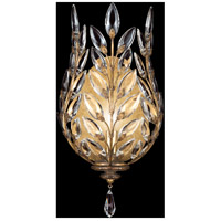 Fine Art Lamps Crystal Laurel 1 Light Coupe in Warm Antiqued Silver Leaf 773850ST