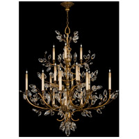 Fine Art Lamps Crystal Laurel 20 Light Chandelier in Warm Antiqued Silver Leaf 774440ST