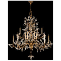Fine Art Lamps Crystal Laurel 20 Light Chandelier in Warm Antiqued Silver Leaf 774540ST