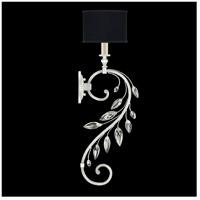Fine Art Lamps 774650-SF42 Crystal Laurel 1 Light 8 inch Silver Leaf Sconce Wall Light