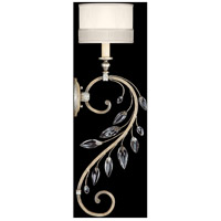 Crystal Laurel 1 Light 8 inch Antiqued Warm Silver Leaf Sconce Wall Light