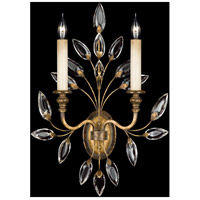 Fine Art Lamps Crystal Laurel 2 Light Sconce in Antiqued Warm Silver Leaf 775250ST
