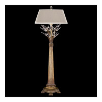 Fine Art Lamps Crystal Laurel 1 Light Console Lamp in Warm Antiqued Silver Leaf 775615ST