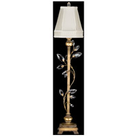 Crystal Laurel Gold 37 inch 60 watt Antiqued Warm Gold Leaf Console Lamp Portable Light