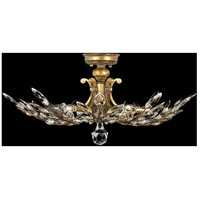 Fine Art Lamps Crystal Laurel 5 Light Semi-Flush Mount in Warm Antiqued Silver Leaf 776240ST