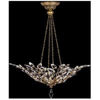 Fine Art Lamps 776340ST Crystal Laurel 4 Light 35 inch Gold Pendant Ceiling Light