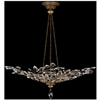 Fine Art Lamps Crystal Laurel 6 Light Pendant in Antiqued Warm Gold Leaf 776440ST