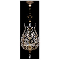 Fine Art Lamps Crystal Laurel 6 Light Lantern in Gold Leaf with Stylized Faceted Crystal Leaves 776540ST