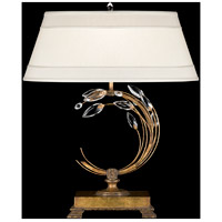 Fine Art Lamps Crystal Laurel 1 Light Table Lamp in Warm Antiqued Silver 778010ST