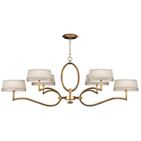 Allegretto Gold 6 Light 63 inch Burnished Gold Leaf Chandelier Ceiling Light