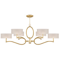 Fine Art Lamps 780040-SF33 Allegretto 6 Light 63 inch Gold Leaf Chandelier Ceiling Light