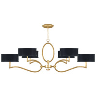 Fine Art Lamps 780040-SF34 Allegretto 6 Light 63 inch Gold Leaf Chandelier Ceiling Light