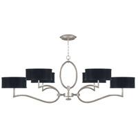 Fine Art Lamps 780040-SF42 Allegretto 6 Light 63 inch Silver Leaf Chandelier Ceiling Light