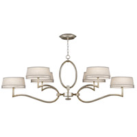 Allegretto Silver 6 Light 63 inch Platinized Silver Leaf Chandelier Ceiling Light