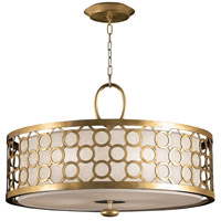 Allegretto Gold 3 Light 33 inch Burnished Gold Leaf Pendant Ceiling Light