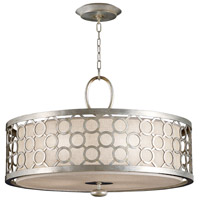 Allegretto Silver 3 Light 33 inch Platinized Silver Leaf Pendant Ceiling Light