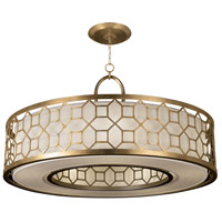 Allegretto Gold 5 Light 48 inch Burnished Gold Leaf Pendant Ceiling Light
