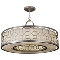 Allegretto Silver 5 Light 48 inch Platinized Silver Leaf Pendant Ceiling Light