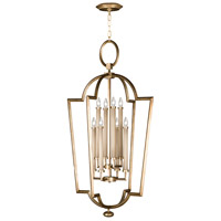 Allegretto Gold 8 Light 28 inch Burnished Gold Leaf Lantern Ceiling Light