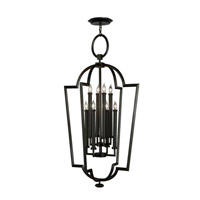 Fine Art Lamps Black + White Story 8 Light Lantern in Black Satin Lacquer 780440-6ST