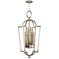 Allegretto Silver 8 Light 28 inch Platinized Silver Leaf Lantern Ceiling Light