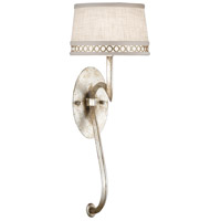 Allegretto Silver 1 Light 8 inch Platinized Silver Leaf Sconce Wall Light