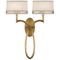 Allegretto Gold 2 Light 18 inch Burnished Gold Leaf Sconce Wall Light