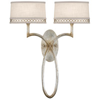 Fine Art Lamps Allegretto 2 Light Sconce in Platinized Silver Leaf 784750ST
