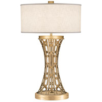 Allegretto Gold 32 inch 150 watt Burnished Gold Leaf Table Lamp Portable Light