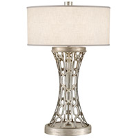 Allegretto Silver 32 inch 150 watt Platinized Silver Leaf Table Lamp Portable Light