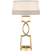 Allegretto Gold 34 inch 150 watt Burnished Gold Leaf Table Lamp Portable Light
