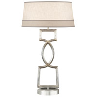 Fine Art Lamps Allegretto 1 Light Table Lamp in Platinized Silver Leaf 785010ST