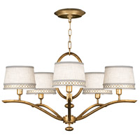 Allegretto Gold 5 Light 29 inch Burnished Gold Leaf Chandelier Ceiling Light