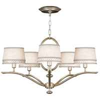 Allegretto Silver 5 Light 29 inch Platinized Silver Leaf Chandelier Ceiling Light
