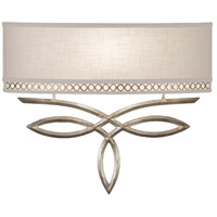 Allegretto Silver 1 Light 18 inch Platinized Silver Leaf Sconce Wall Light