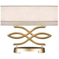 Allegretto Gold 21 inch 60 watt Burnished Gold Leaf Table Lamp Portable Light