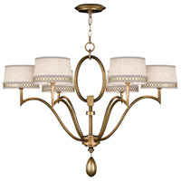 Allegretto Gold 6 Light 39 inch Burnished Gold Leaf Chandelier Ceiling Light