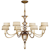 Fine Art Lamps Staccato 8 Light Chandelier in Toned Gold Leaf 786640-2ST