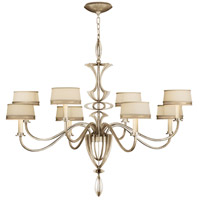 Fine Art Lamps Staccato 8 Light Chandelier in Toned Silver Leaf 786640ST