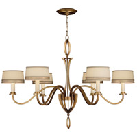 Fine Art Lamps Staccato 6 Light Chandelier in Toned Gold Leaf 786740-2ST