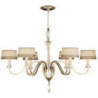 Fine Art Lamps Staccato 6 Light Chandelier in Toned Silver Leaf 786740ST