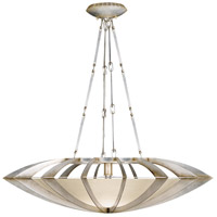 Fine Art Lamps Staccato 1 Light Pendant in Toned Silver Leaf 787040ST