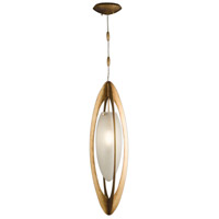 Staccato 1 Light 10 inch Gold Pendant Ceiling Light