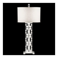Fine Art Lamps Black and White Story 1 Light Table Lamp in Studio White Satin Lacquer 787310-5ST