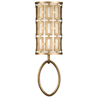 Allegretto Gold 1 Light 8 inch Burnished Gold Leaf Sconce Wall Light