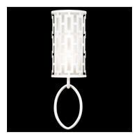 Fine Art Lamps Black + White Story 1 Light Sconce in Studio White Satin Lacquer 787450-5ST